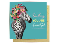 Greeting Card - Wild Zebra