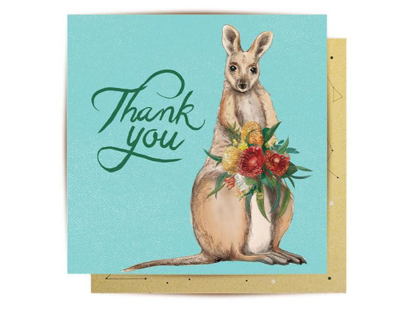 Greeting Card - Wallaby Thank You