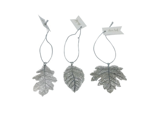 Leaf - Silver - Elm, Oak, Maple