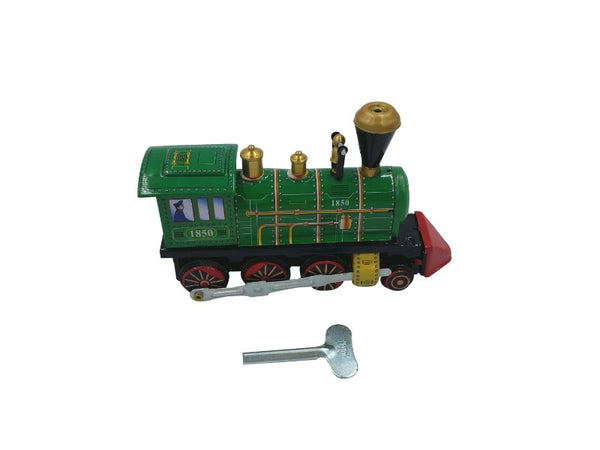 Tin Toy - Locomotive Train Engine - Tin - Green, Red