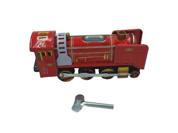 Tin Toy - Locomotive Train Engine - Green, Red