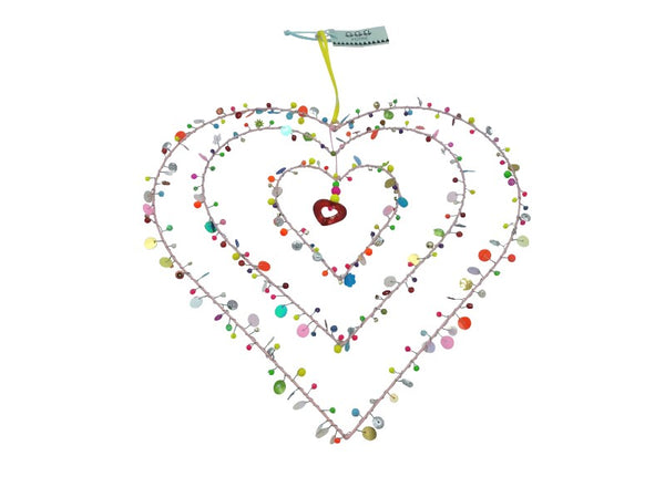 Mobile - Heart - Beads/Sequins
