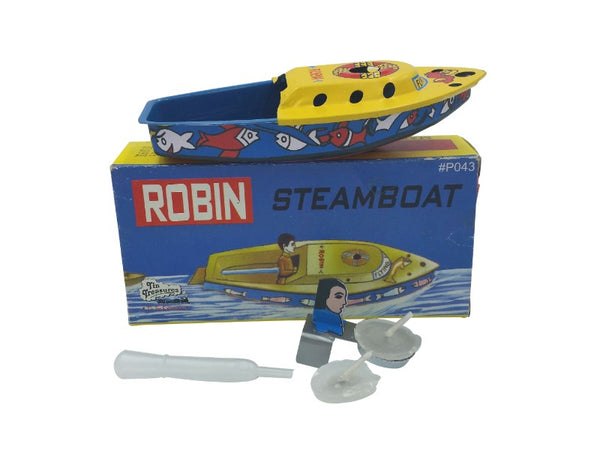 Tin Toy - Robin Steam Boat