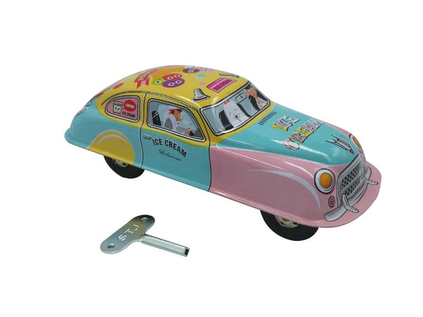 Tin Toy Car - Ice Cream Wagon