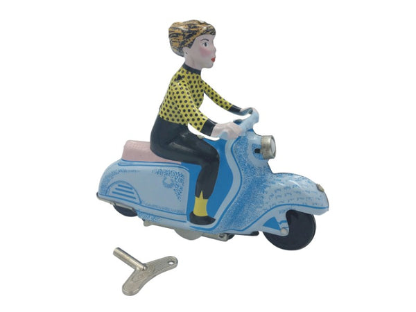 Tin Toy - Scooter Girl