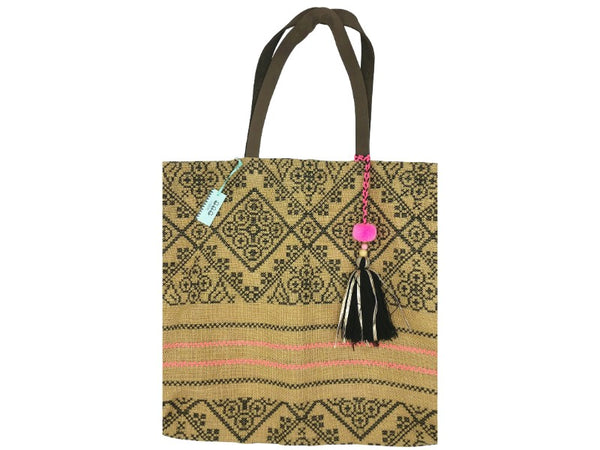 Bag - Hessian - Embroidered