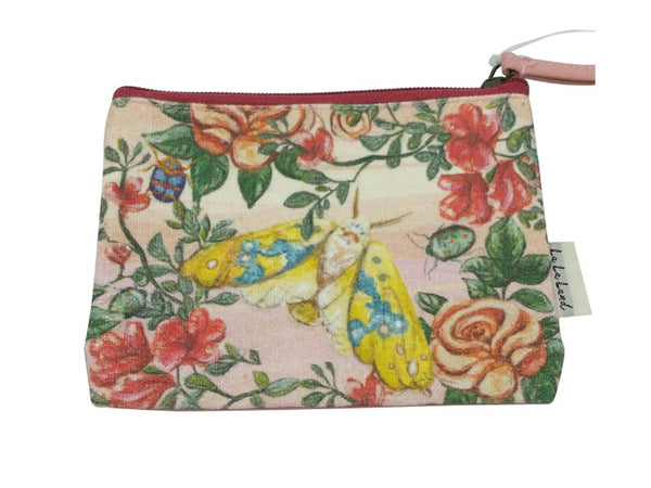 Coin Purse - Galah, Bugs & Roses