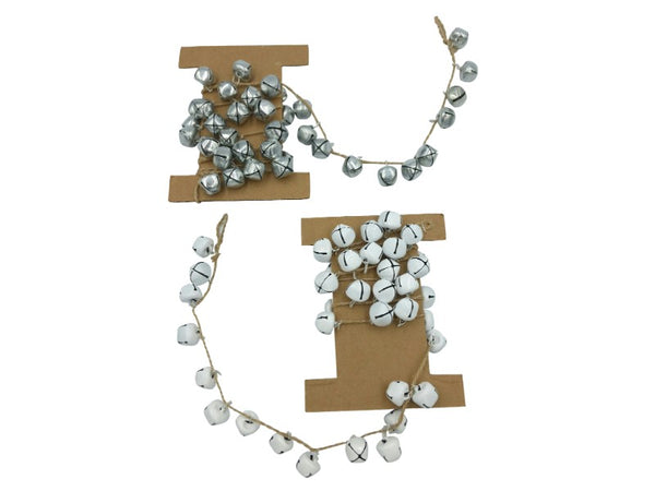Garland - Bells - Silver, White