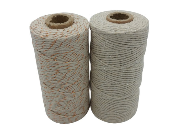 Twine - Cotton/Metallic - Silver, Copper