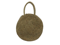 Basket - Raffia - Black, Yellow