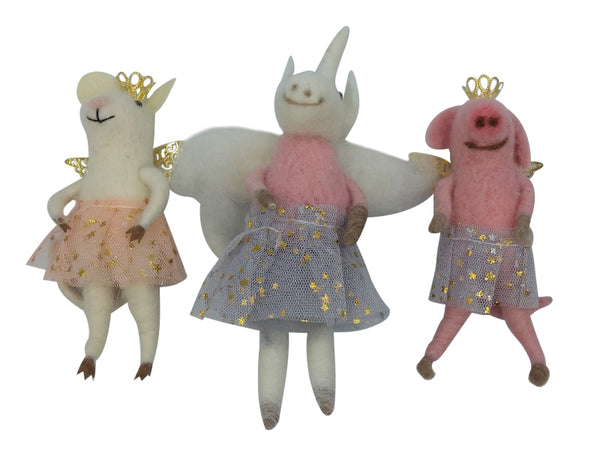 Hanging Decoration - Pig, Mouse, Unicorn