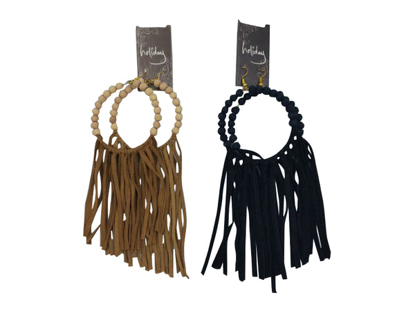 Earrings - Islander - Black, Natural