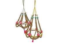 Mobile - Wood/Pom Pom/Tassels - Large