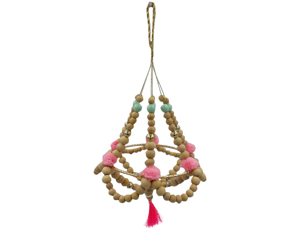 Mobile - Wood/Pom Pom/Tassels - Small