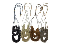Necklace - Smokey - Charcoal, Vanilla, Tan, Coco