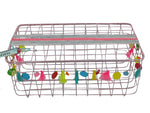 Basket - Wire - Pink - Large