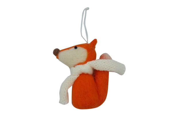 Fox - Felt - Grey, Orange