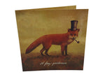 Greeting Card - Foxy Gentleman