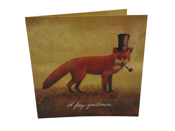 Greeting Card - A Foxy Gentleman