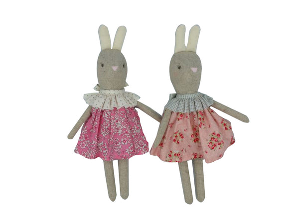 Doll - Betsy Bunny - Fuschia Pink, Pink Floral