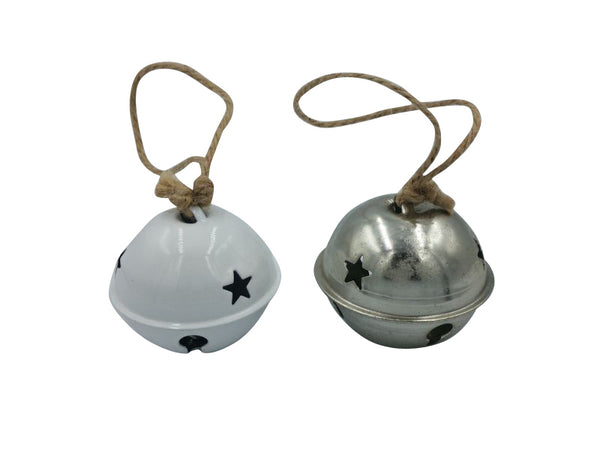 Bell - Silver, White - 60mm