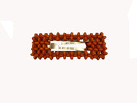 Hair Clip - Wooden Beads - Rectangle - Tan, Green, Yellow, Orange, Brown