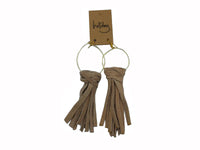 Earrings - Escape - Tan, Natural