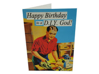 Greeting Card - Happy Birthday to a DIY God!