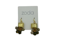 Earrings - Gold - Grey Balls