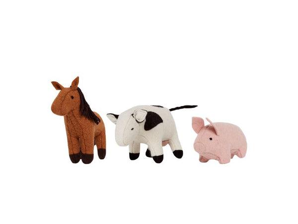 Holdie Farm Animals - Set Of Three