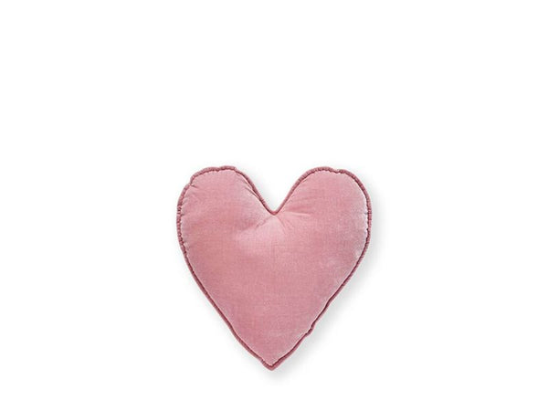Cushion - Velvet Heart - Pink