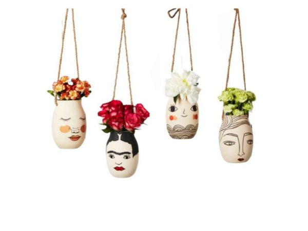 Planter - Hanging - Face - Madame Daisy, Frida, Miss Cozette, Greta