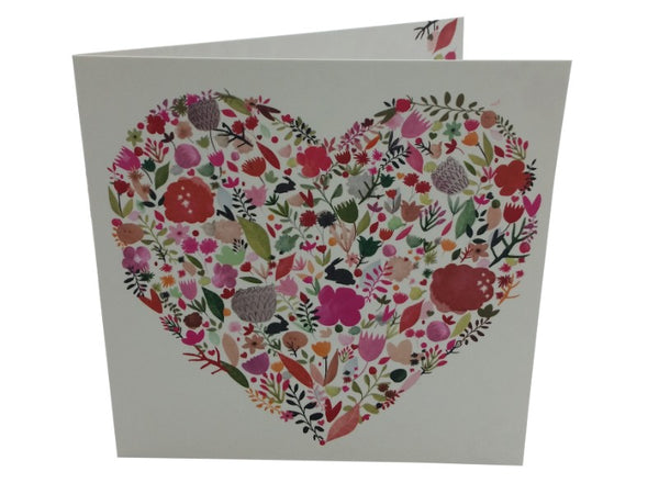 Card - Flowered Heart