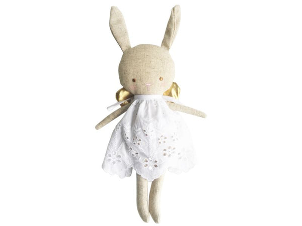 Doll - Linen Baby Angel - Gold