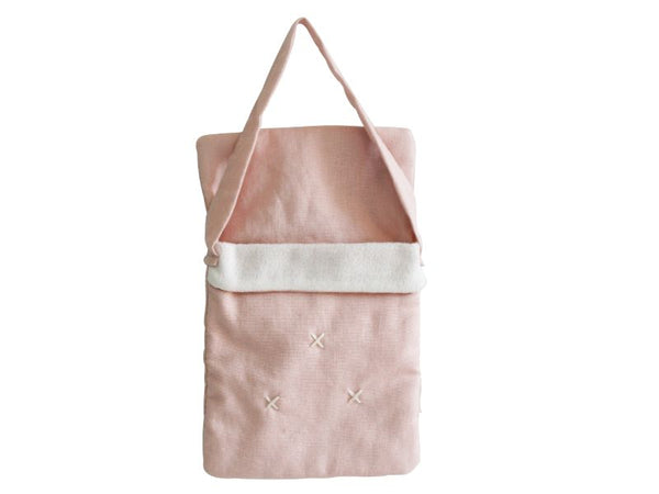 Baby Doll Carry Pouch - Pink Linen