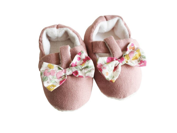 Booties - Bow - Rose Garden