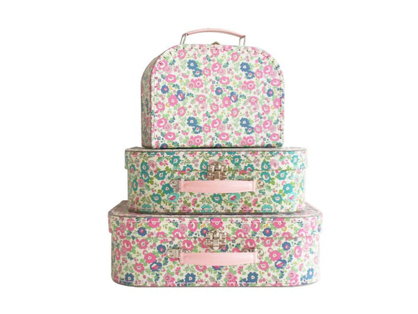 Carry Cases - Set of Three - Petite Floral, Cottage Rose