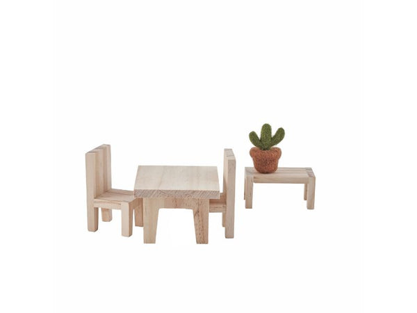 Dolls House Furniture -  Dining Room, Living Room, Double Bed, Single Bed