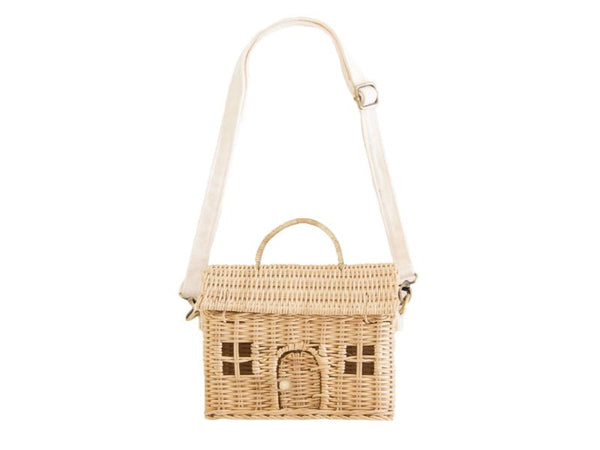 Bag - Casa - Straw, Rose
