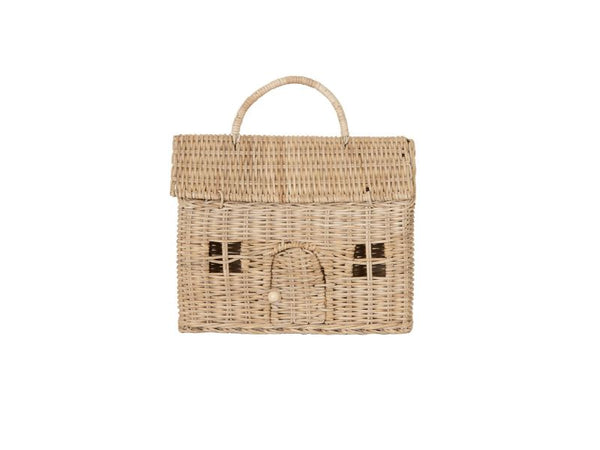Bag - Clutch - Casa - Straw, Rose