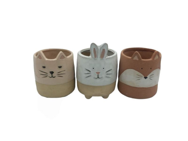 Planter Pot - Cat, Bunny, Fox