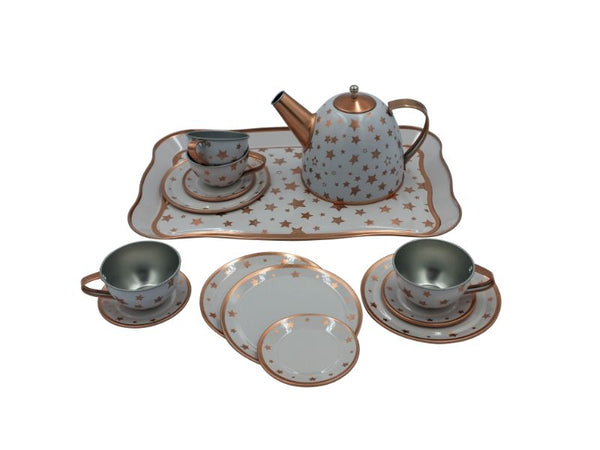 Tea Set - Tin - Copper Star - Suitcase