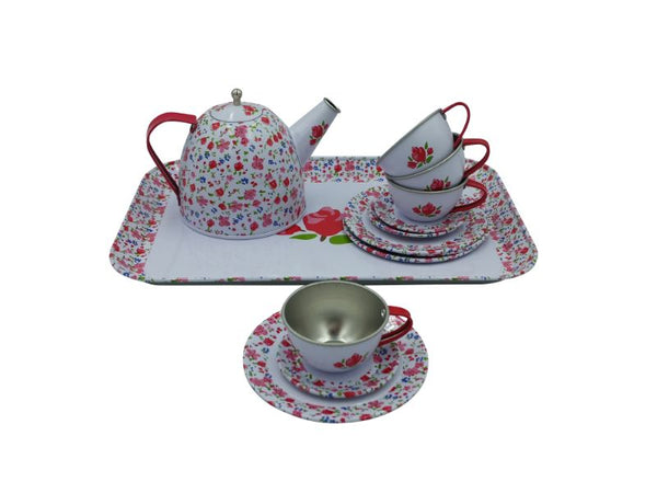 Tea Set - Tin - flower