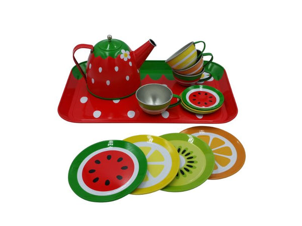 Tea Set - Tin - Fruit