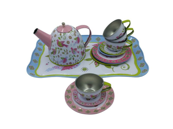 Tea Set - Tin - Bird