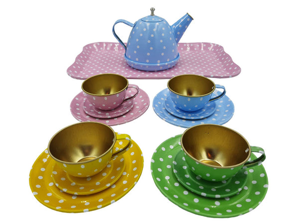 Tea Set - Tin Pastel Spots