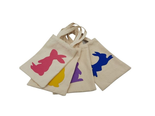 Bag - Mini Tote - Rabbit - Yellow, Blue, Pink, Purple