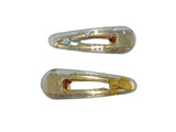 Hair Clip - Clear - Gold, Silver