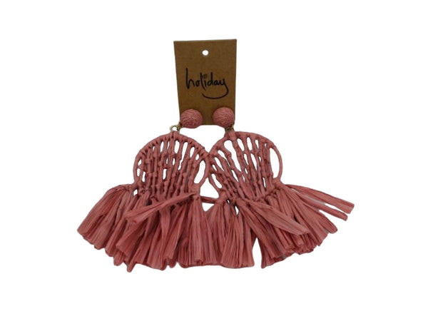 Earrings - Miranda - Raffia