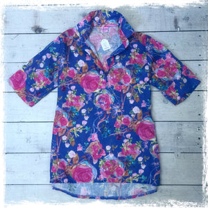 Linen Bush Beautique placket front shirt